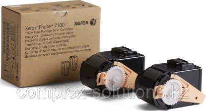 Тонер картридж XEROX 7100 Yellow (2x4.5k) | Код: 106R02611 | [оригинал]