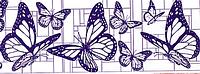 Сменный роликовый штамп Джамбо (JUMBO) - MODERN BUTTERFLY (современная бабочка)