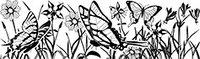 Сменный роликовый штамп Джамбо (JUMBO) - BUTERFLY GARDEN (сад бабочек)