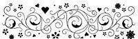 Сменный роликовый штамп Джамбо (JUMBO) - HEARTS & FLOWERS (сердца и цветы)