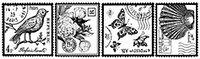 Сменный роликовый штамп Джамбо (JUMBO) - FAUX POSTAL (почтовые марки)