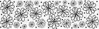 Сменный роликовый штамп Джамбо (JUMBO) - FLOWERS GALORE (изобилие цветов)