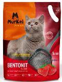Murkel 5л Клубника (круглый) Комкующийся наполнитель для кошачьего туалета, 4 кг.