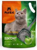 Murkel 5л Яблоко (круглый) Комкующийся наполнитель для кошачьего туалета, 4кг