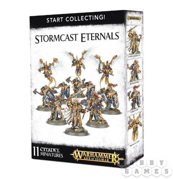 """МИНИАТЮРЫ ВАРХАММЕР: Начальный набор """"Штурмовики Вечных"""" (Start Collecting! Stormcast Eternals)"""
