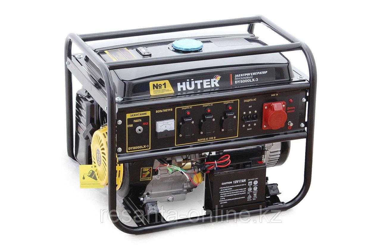 Портативный бензогенератор HUTER DY8000LX-3