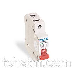 Автоматический выключатель реечный, HYUNDAI, HIBD63-N 1PMCS0000C 1Р 16А, 6kA
