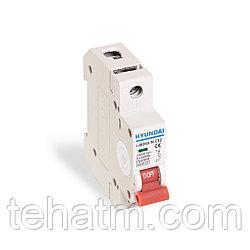 Автоматический выключатель реечный, HYUNDAI, HIBD63-N 1PMCS0000C 1Р 50А, 6kA