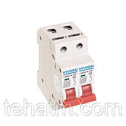 Автоматический выключатель реечный, HYUNDAI, HIBD63-N 2PMCS0000C 2Р 32А, 6kA
