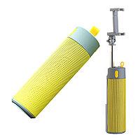 Колонка Bluetooth с селфи палкой желтая, фото 1