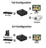 Переключатель (switch) Bi-Directional HDMI 2,0   3D 4K, фото 3