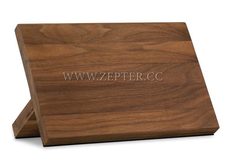 Магнитная подставка для ножей( цельный орех)