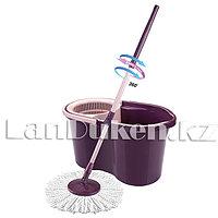 Набор для уборки швабра + ведро с отжимом Mop Style 707 фиолетовый