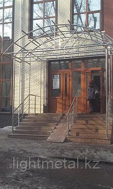 Козырьки из нержавеющей стали со стеклом, фото 2