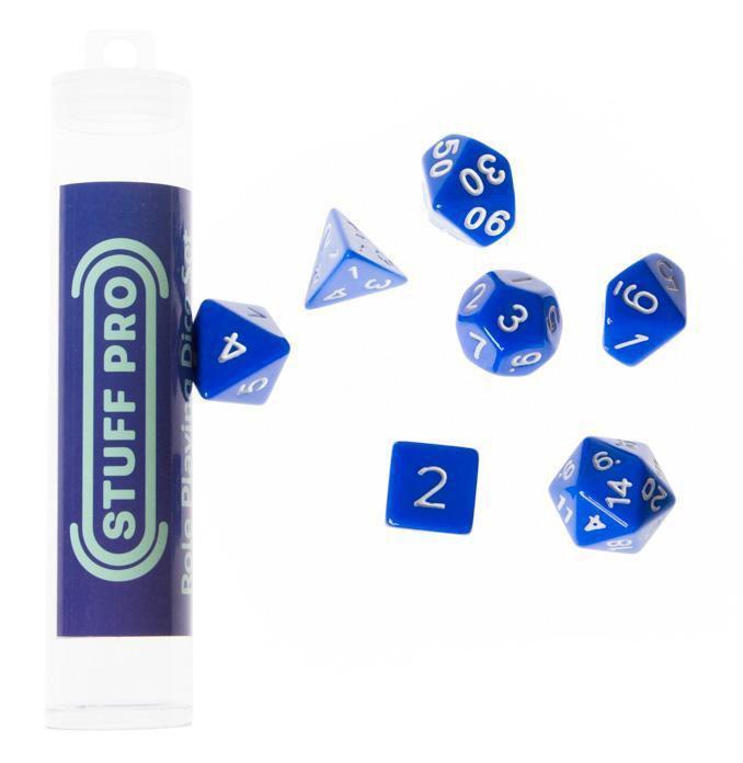 Набор кубиков STUFF PRO для ролевых игр. Синие