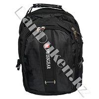 Городской рюкзак SWISSGEAR с дождевиком и USB портом черный