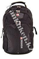Городской рюкзак SWISSGEAR с дождевиком и USB портом черный 7228