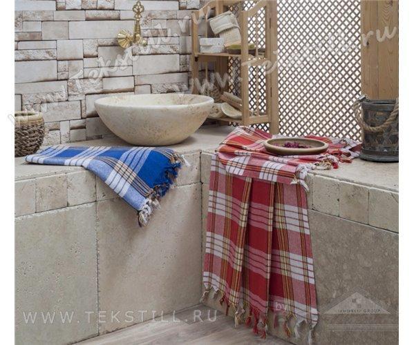 Простынь-Полотенце для сауны Пештемаль 80*180 Турция (клетка)