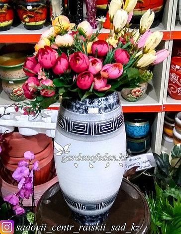 """Керамическая ваза """"Орнамент на белом"""" 30см, фото 2"""