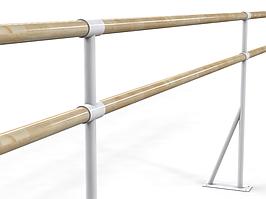Балетный напольный двухрядный станок  2м
