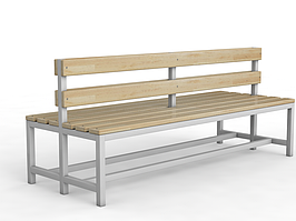 Скамейка для раздевалки двухсторонняя