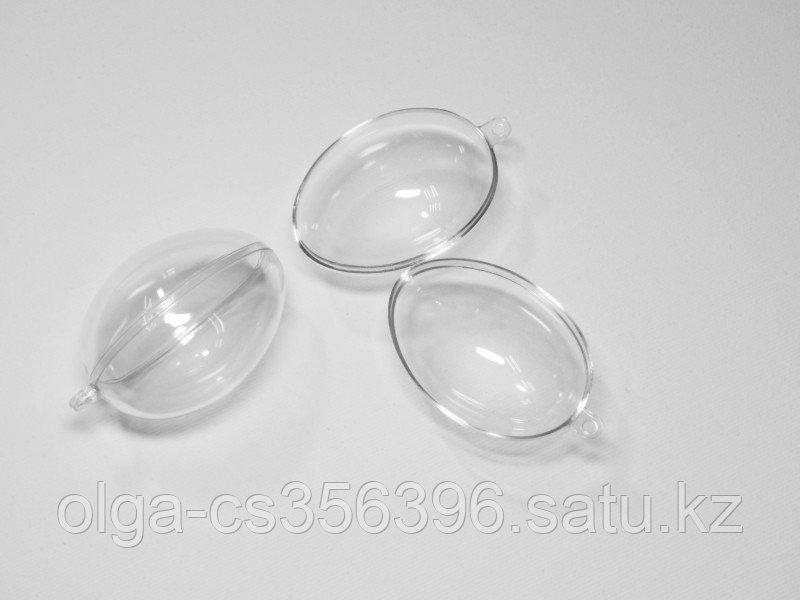 Яйца пластиковые прозрачные для декора. 4 *  6 см. БРАК, Creativ 2282