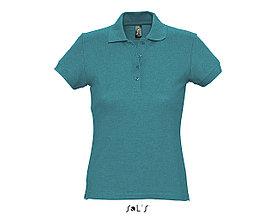 Рубашка поло женская | PASSION | Sols | Duck blue