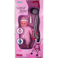 FEI LI TOYS Кукольная коляска+кукла (FL8108-C)