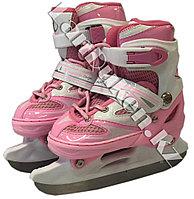 Раздвижные коньки для девочек розовые