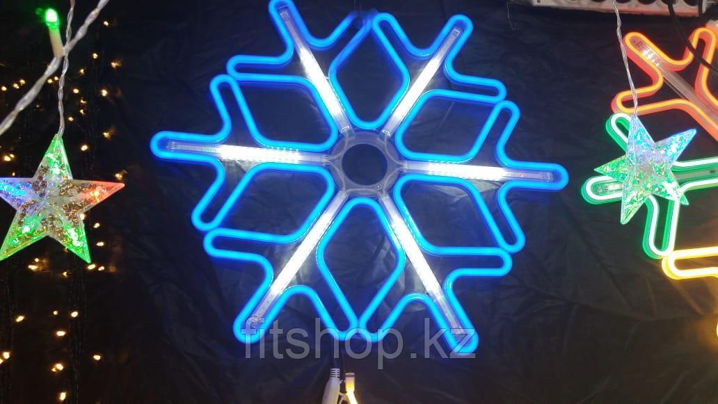 """Новогодняя светодиодная фигура """"Снежинка"""" - 60 х 60 см (Флекс -неон)"""