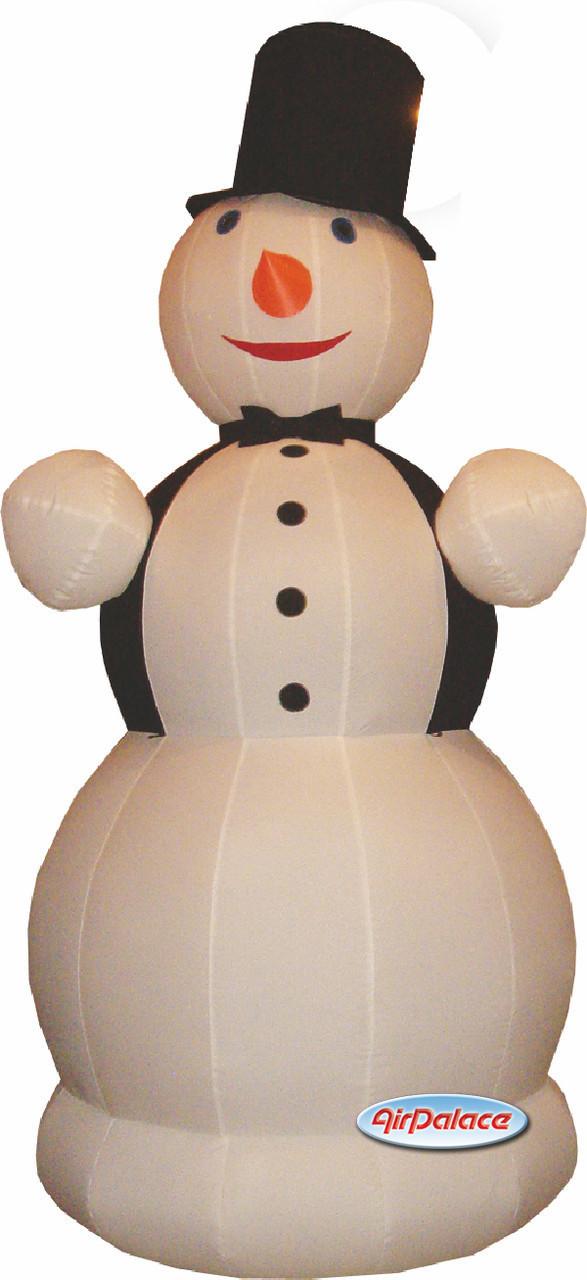Надувная фигура Снеговик Джентельмен большой 10 м