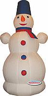 Надувная фигура Снеговик с шарфиком 6 м