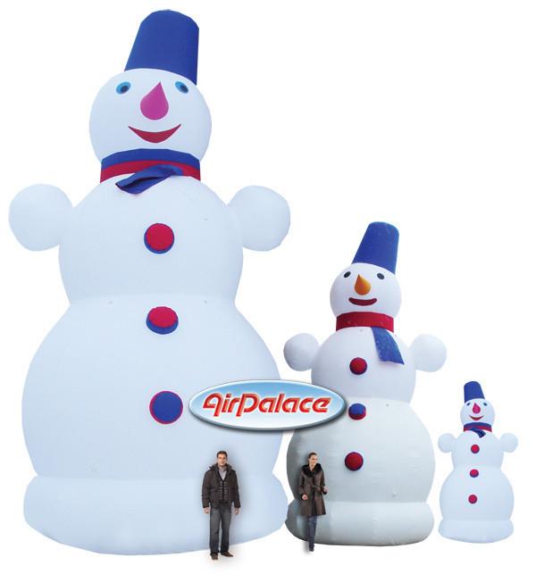 Фигура Снеговик: надувной Снеговик по доступным ценам. Выберите подходящий размер