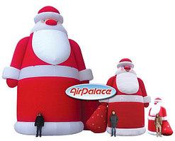 Большая надувная фигура Дед Мороз VIP 6 м