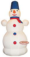 Надувной Снеговик с шарфиком 3 м- купить фигуру
