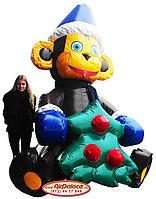 Надувная большая фигура Обезьяна новогодняя 3 м