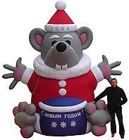 Надувная фигура Крыса новогодняя 6 м