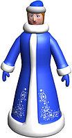 Большая надувная фигура Снегурочка VIP 6 м