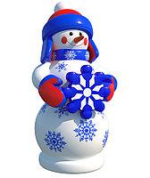 "Надувная Фигура 3 м Снеговик ""Со снежинкой"""