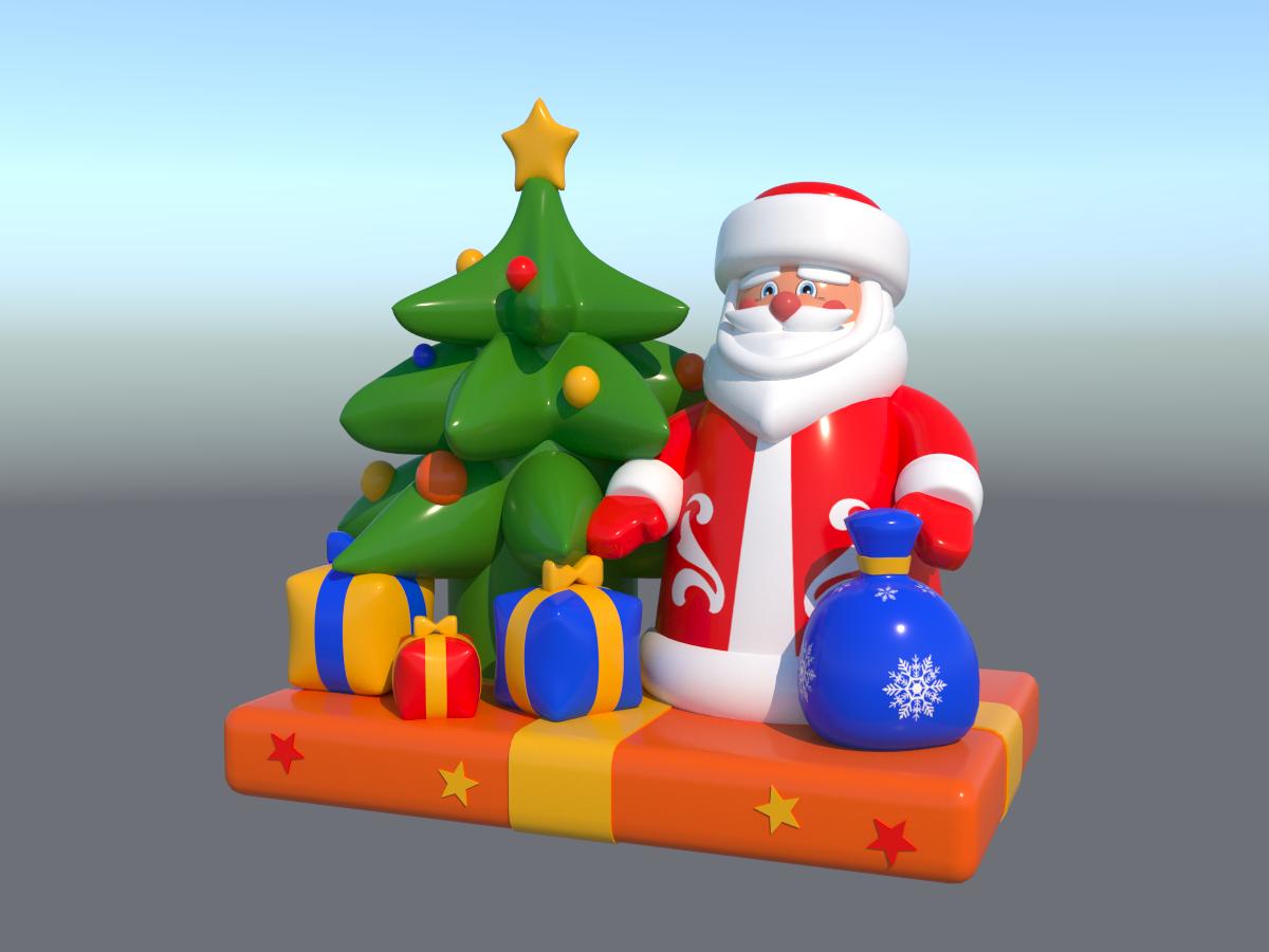 Надувная фигура Новогодние подарки 2,0*2,0*3,0 м