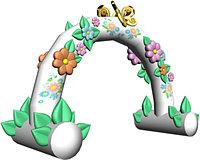 Большая надувная фигура арка с цветами