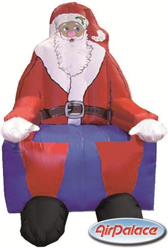 Большая надувная фигура Трон Санта 1,3*1,5*2,8 м