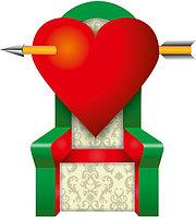 Большая надувная фигура Трон Сердце