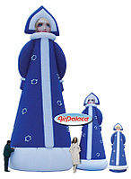 Большая надувная фигура Снегурочка в кокошнике 5 м