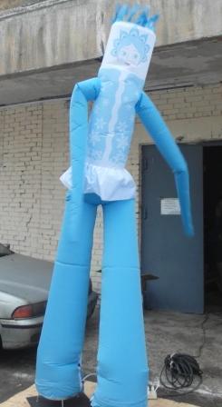 Аэромен надувной человечек Снегурочка 3,5 м
