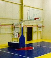 Стойка баскетбольная профессиональная передвижная складная с защитой