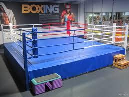 Ринг боксерский с помостом 7,65 х 7,65м высота 1м (боевая зона 6м х 6м)