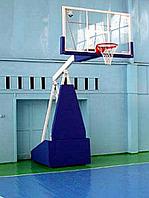Стойка баскетбольная профессиональная передвижная складная с защитой, фото 1