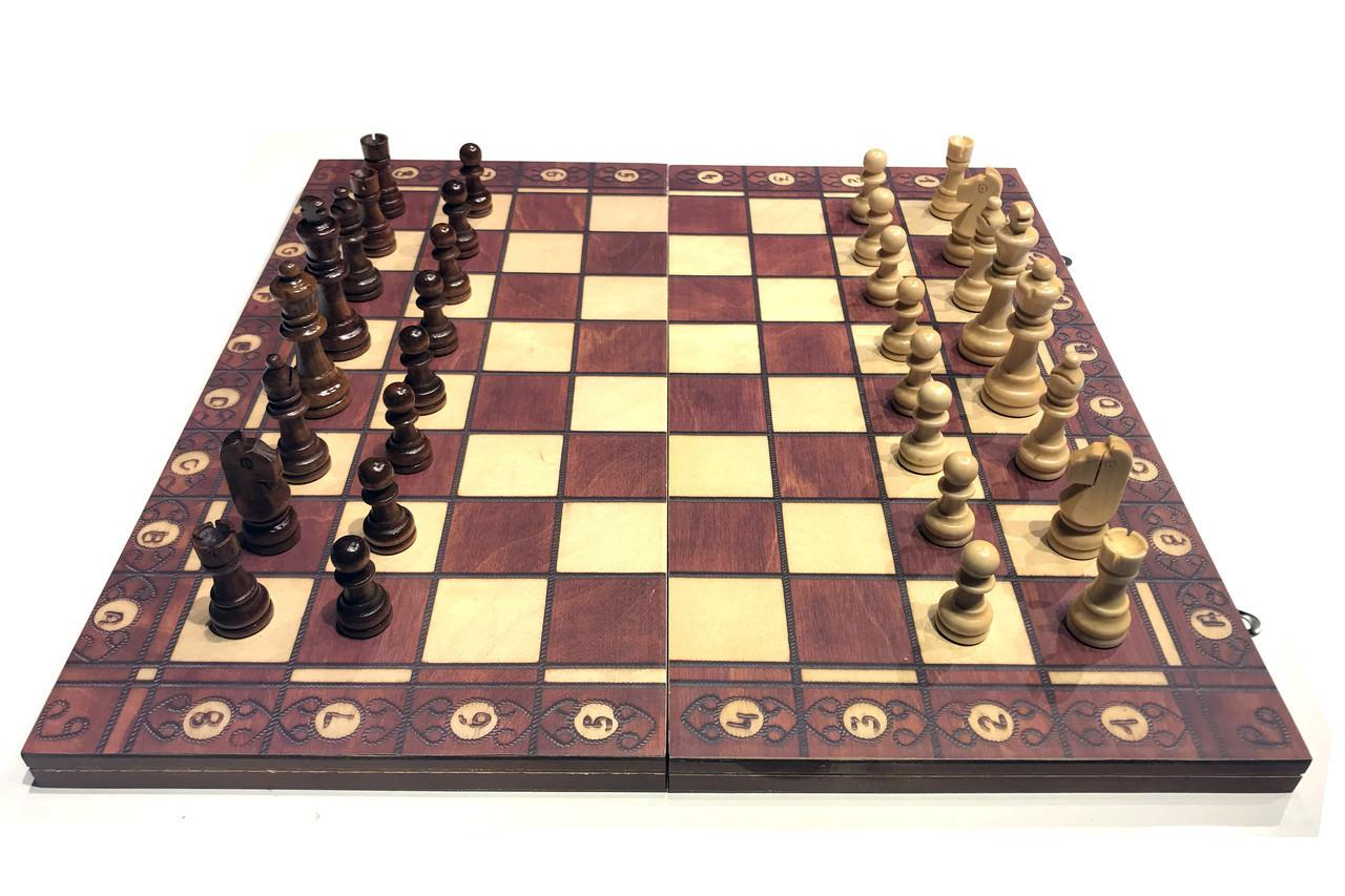 Шахматы шашки нарды 44см х 44см