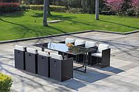 Набор мебели, стол + 8 кресел + 4 пуфа